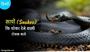 snake facts in hindi