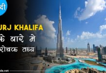 burj khalifa facts in hindi