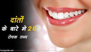 teeth facts in hindi