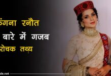 kangana ranaut facts In hindi