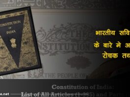 Indian constitution facts in hindi