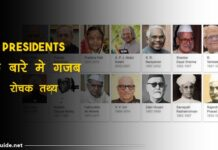 Presidents facts in hindi